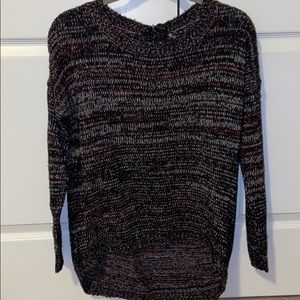 Ladies High/Low multicolored sweater